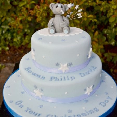 Tatty Teddy Boy's Christening Cake