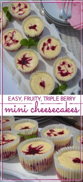 Individual Mini Berry Cheesecakes