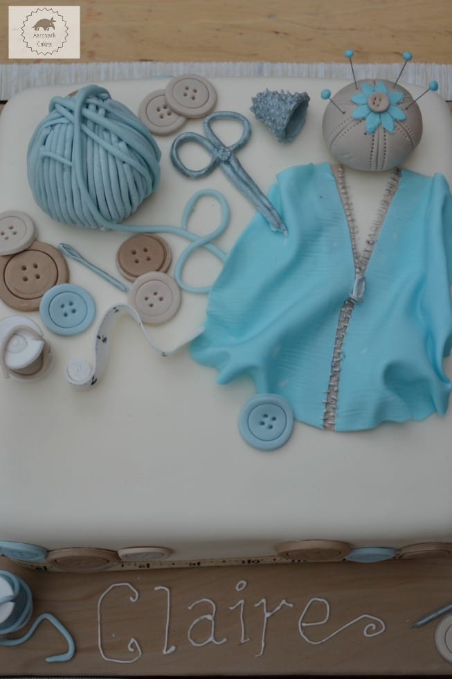 Sewing craft lovers cake