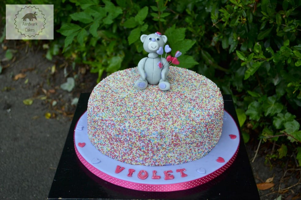 Confetti Teddy Cake