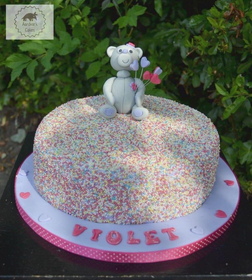 Sprinkle Confetti Teddy Cake