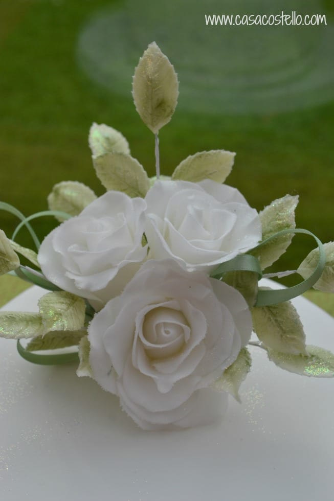70th Birthday Cake With White Sugar Roses Bakeoftheweek Casa Costello