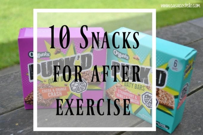 10 Snacks for after exercise