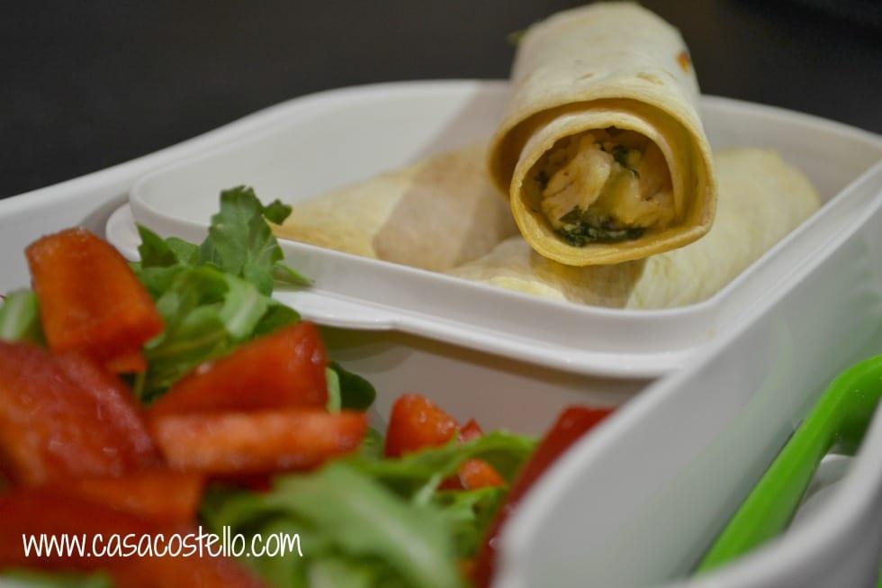 Chicken Cheese Rocket Falutas Tortilla Wraps