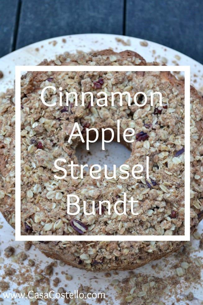 Cinnamon Apple Streusel Bundt Cake