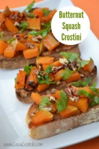 Roasted Butternut Squash Crostini