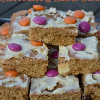 Halloween White Chocolate Raisin Bars