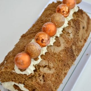 Gingerbread Roulade with Lemon Cream