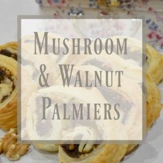 Mushroom & Walnut Palmiers #GBBOBloggers2016