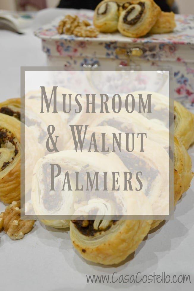 Mushroom & Walnut Palmiers