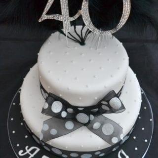 40th Birthday Bling Cake #Bakeoftheweek