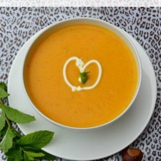 Butternut Squash, Red Pepper & Mint Soup