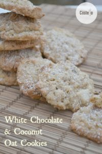 White Chocolate Coconut Oat Cookies