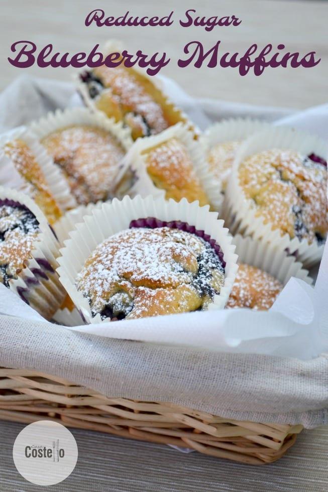 Recuded Sugar Blueberry Muffins