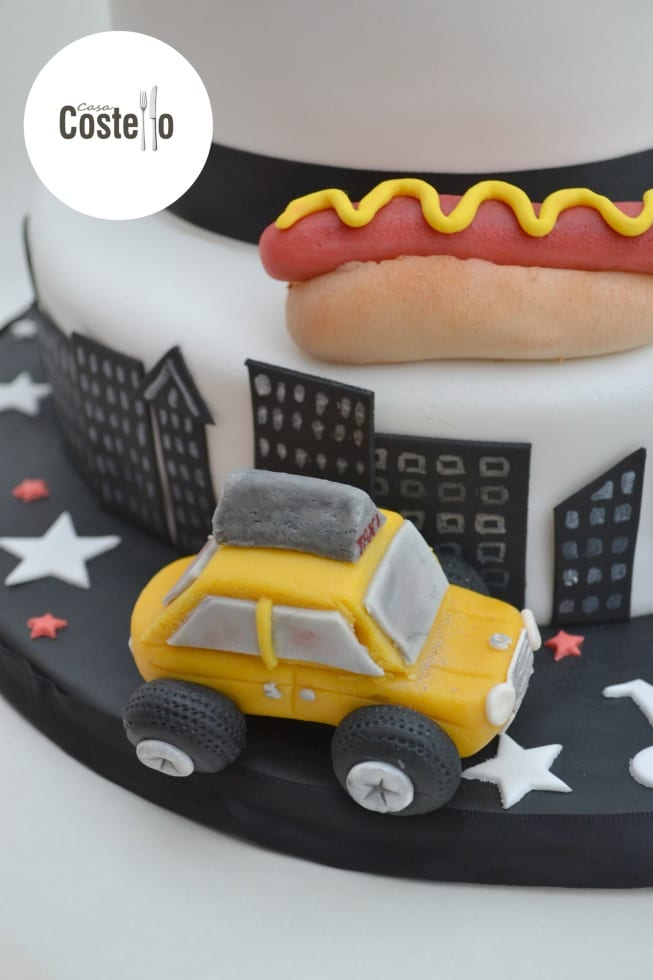 New York Cab Taxi Sugar Topper
