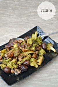 Broccoli, Chestnut & Mushroom Bake