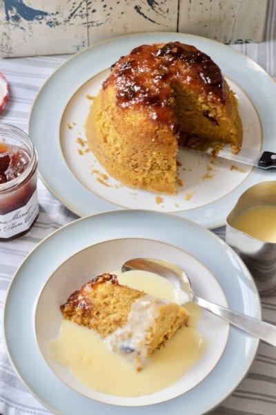 Pumpkin Plum conserve steamed pudding