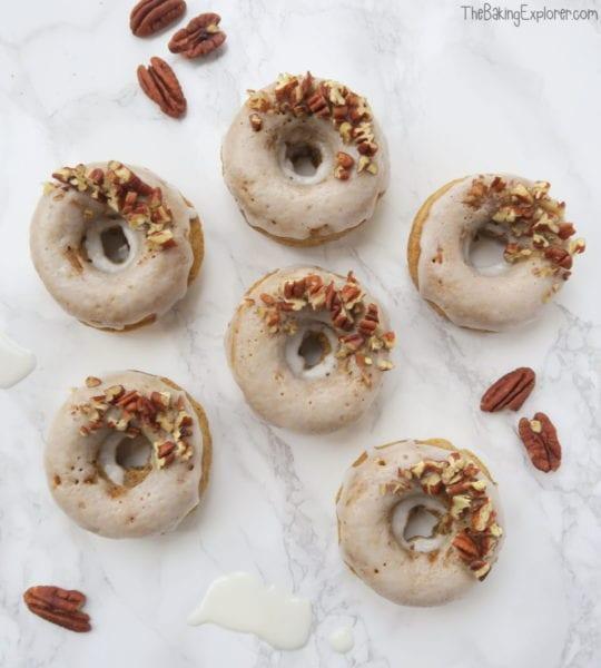 Carrot Cake Baked Vegan Donuts