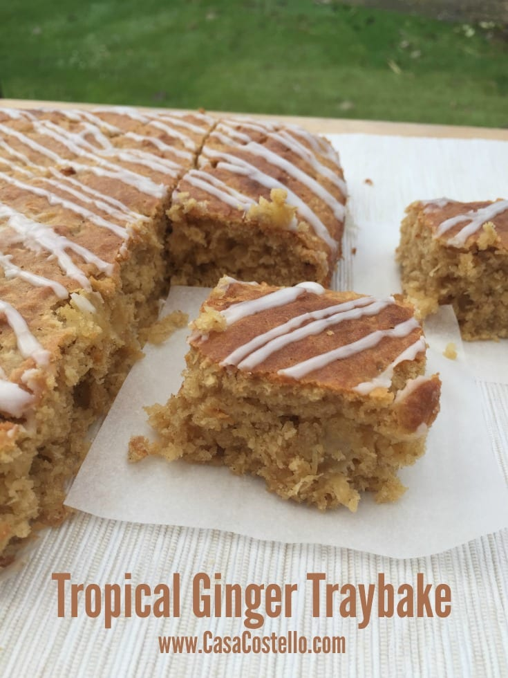 Tropical Ginger Traybake