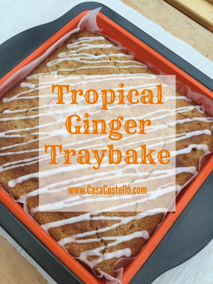 Tropical Ginger Traybake