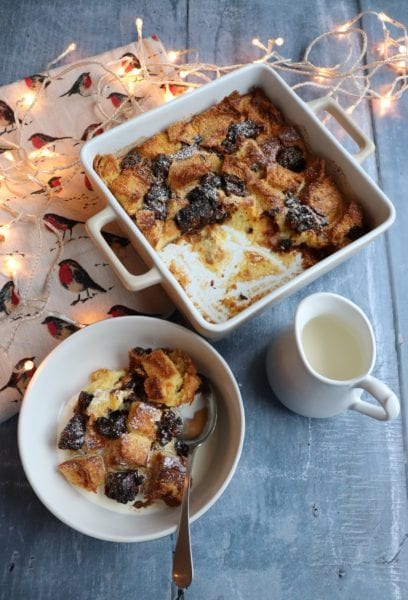 Brioche Christmas Pudding Bread Butter Pudding