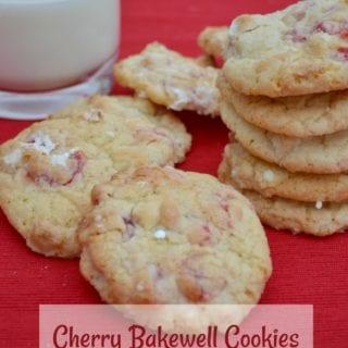 Leftover Marzipan: Cherry Bakewell Cookies #BakeoftheWeek