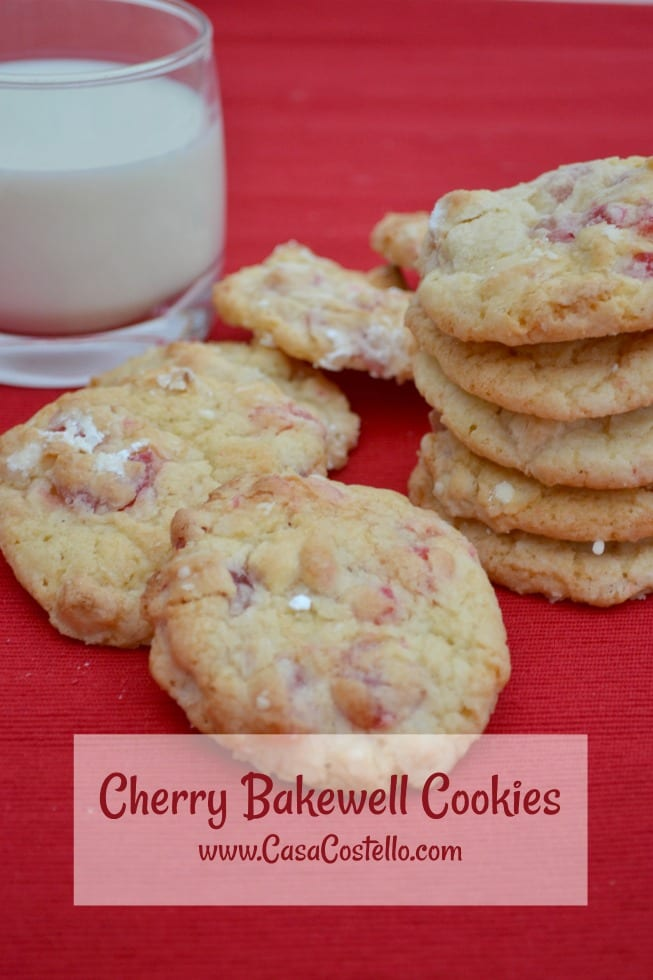 Cherry Bakewell Cookies