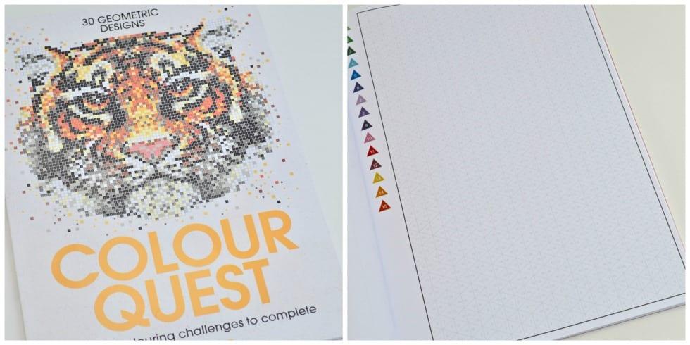 Geometric colouring book