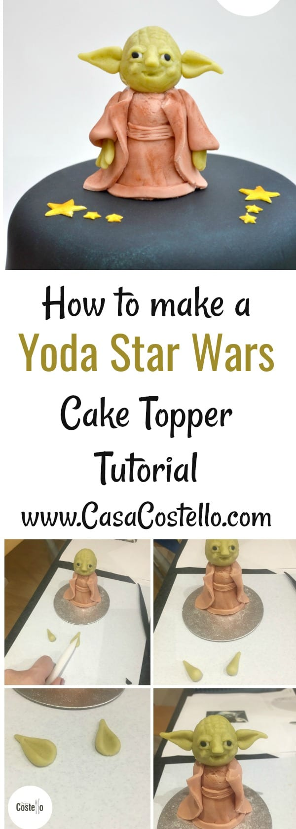 How to make a Yoda Star Wars Cake Topper Tutorial