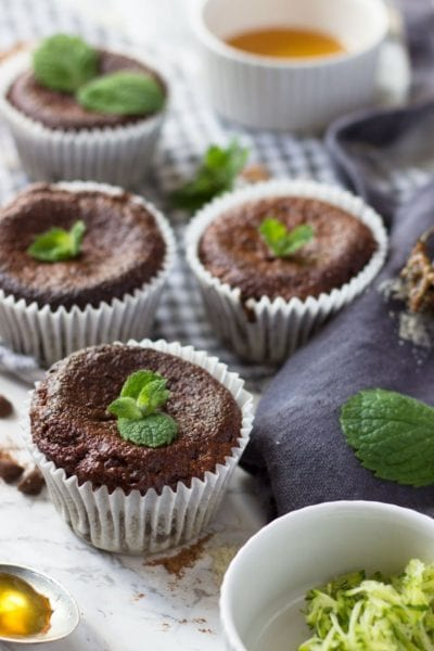 Mint Courgette Muffins