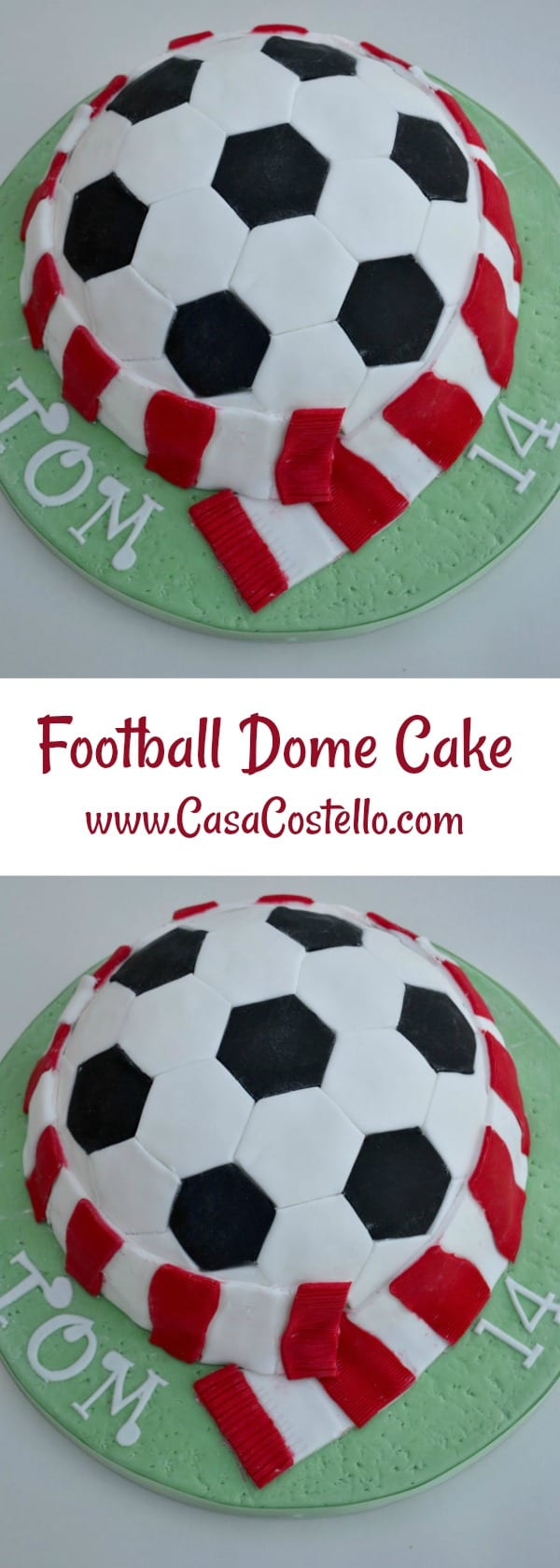 Football Dome Cake Novelty Birthday Cake for a teenage football lover
