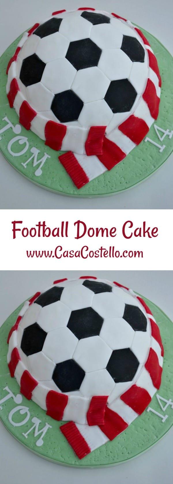 Football Dome Cake Novelty Birthday Cake for a teenage football lover