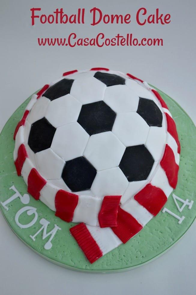 Football Dome Cake