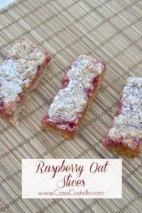 Raspberry Oat Slices