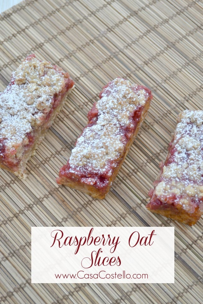 Raspberry Oat Slices