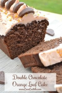 Double Chocolate Orange Loaf Cake