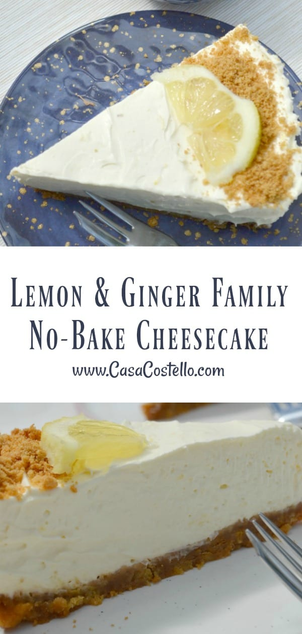 Lemon & Ginger No-Bake Family Cheesecake