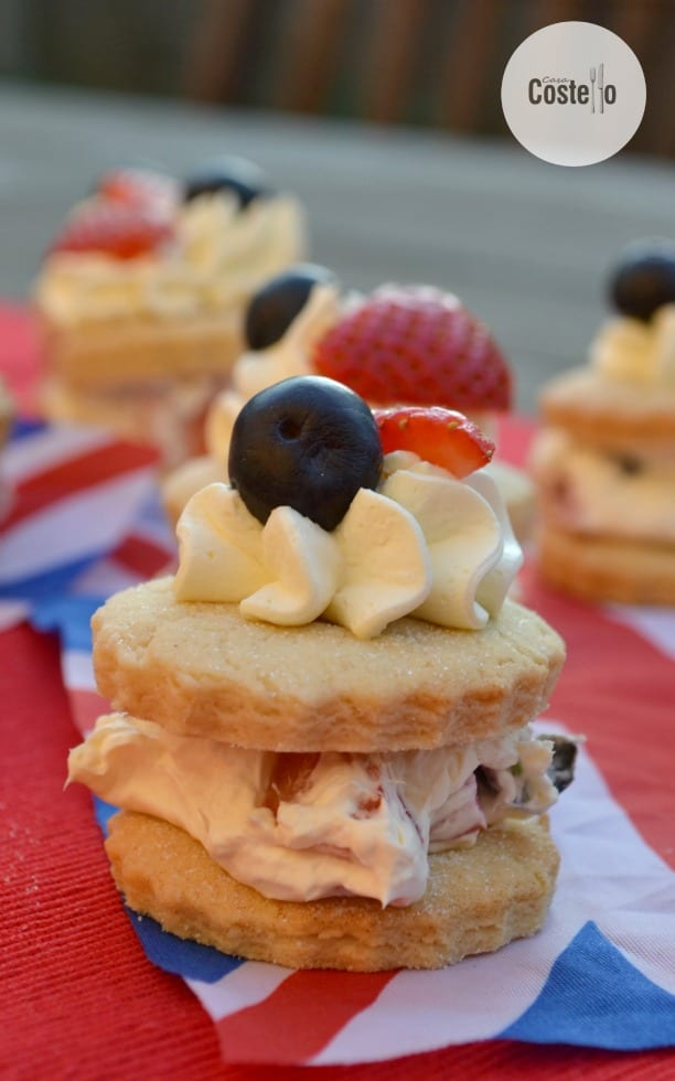 Mini Strawberry & Blueberry Shortcakes