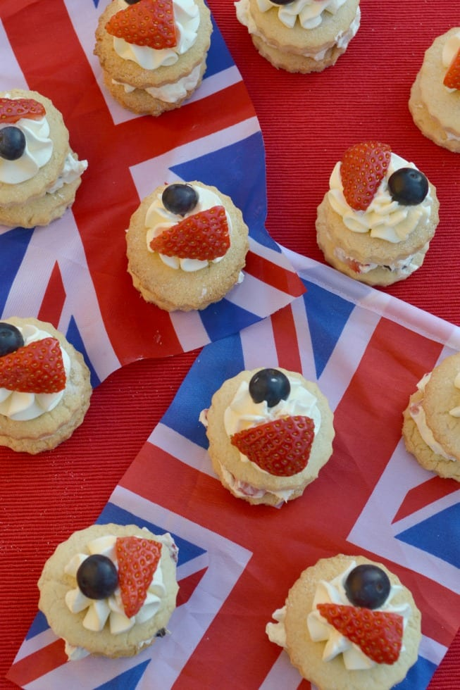 Red, White & Blue Mini Strawberry Shortcakes