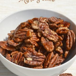 Oven baked Salted Maple Pecans