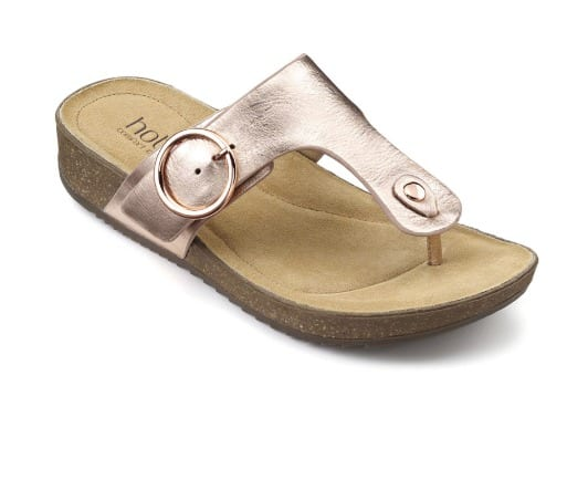 Hotter Sandals Rose Gold