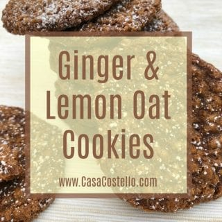 Ginger & Lemon Oat Cookies #GBBOBakeoftheWeek