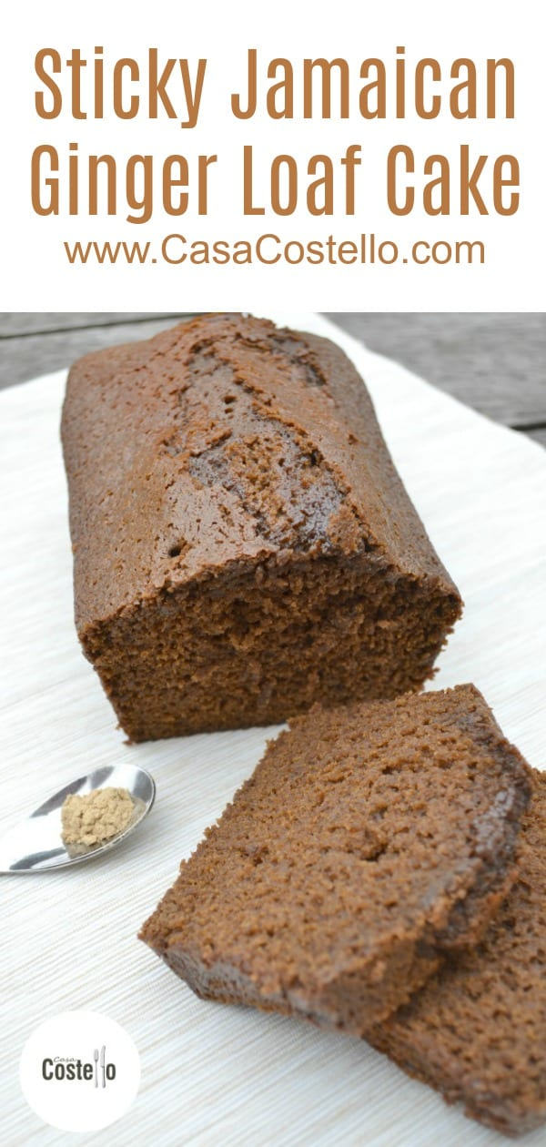 Sticky Jamaican Ginger Loaf Cake