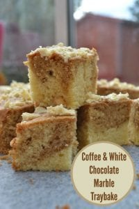 Coffee & White Chocolate Marble Traybake