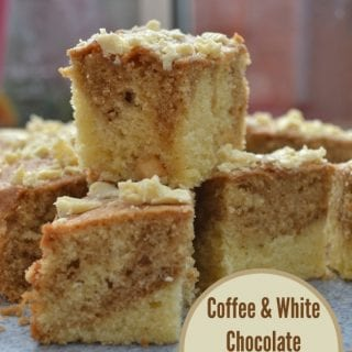 Coffee & White Chocolate Marble Traybake #GBBOBakeoftheWeek