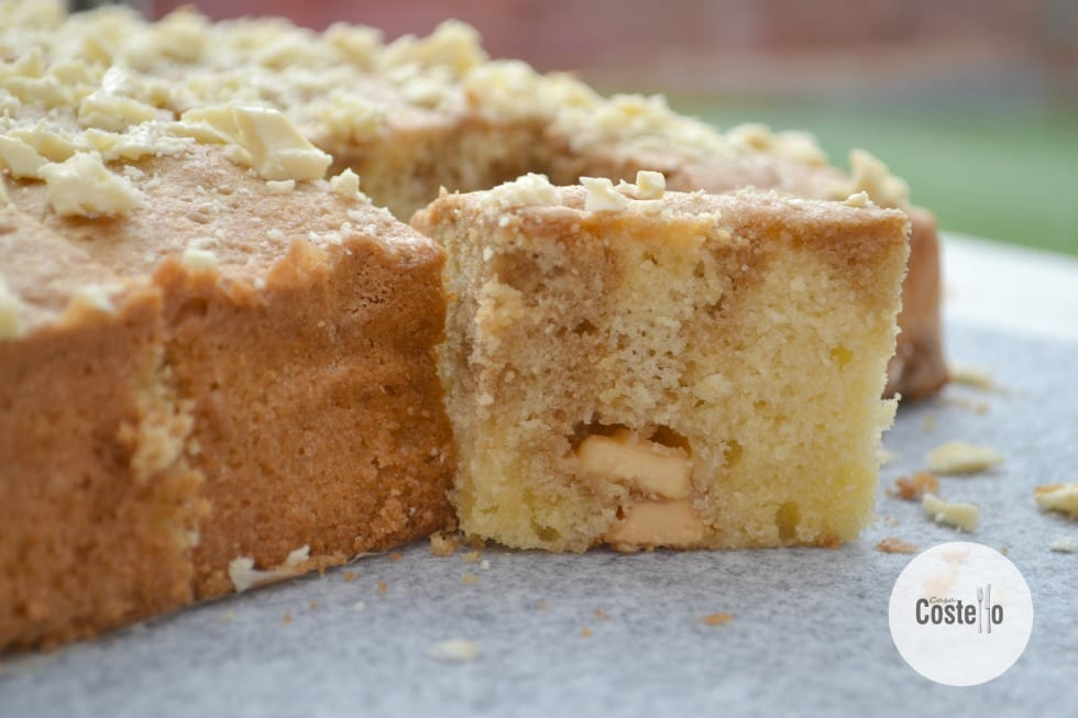 Coffee White Chocolate Traybake Slices #GBBOBakeoftheWeek