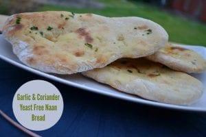 Garlic Coriander Yeast Free Naan Bread