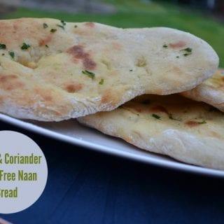 Garlic & Coriander Yeast Free Naan Bread #GBBOBakeoftheWeek