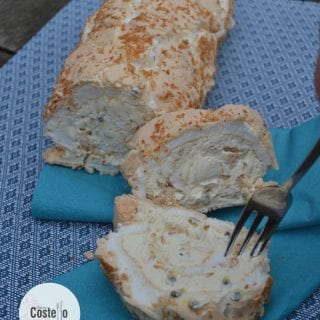 Toasted Coconut & Passion Fruit Roulade