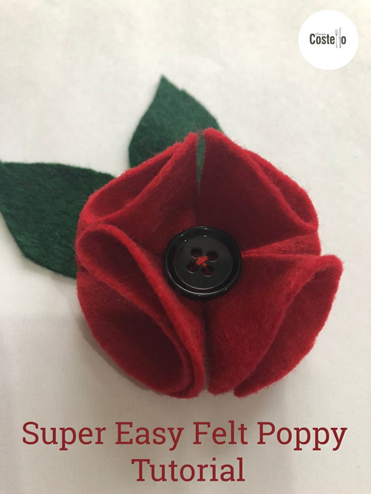 Felt Poppy Brooch Tutorial